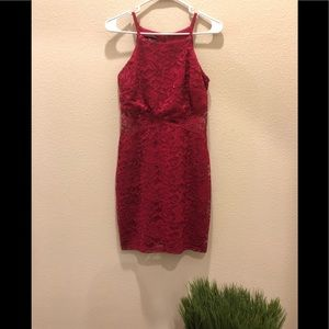 Juniors red holiday dress or homecoming dress Sz 5